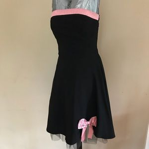 Ruby Rox Sz 11 Formal black pink dress with bow
